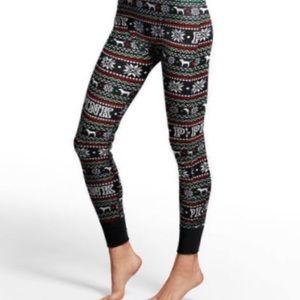 PINK Victoria's Secret Christmas pajama leggings